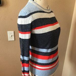 Treasure & Bond Sweaters - Metallic Stripe Pullover